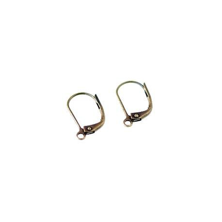 Leverback earrings 15x9mm BRONZE COLOR x2