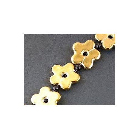 Flower donut 29mm GOLD DORADO x 1 strand