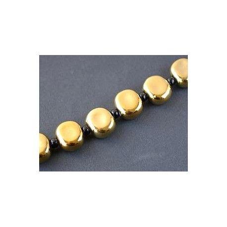 Round flattened 19mm GOLD DORADO x 1 strand