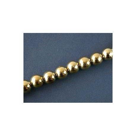 Round 14mm GOLD DORADO x 1 strand