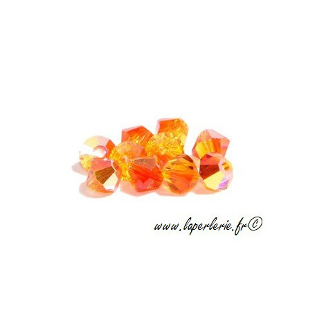 Bicone 5301 4mm FIREOPAL AB x50