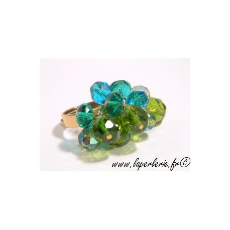 Kit breloque ring OLIVINE / ZIRCON / AQUAMARINE