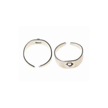 Support de bague avec anneau ARGENTÉ