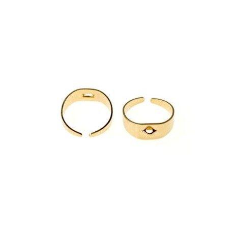 Support de bague avec anneau DORÉ
