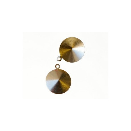 Stick-on support for rivoli 14mm GOLD COLOR x1