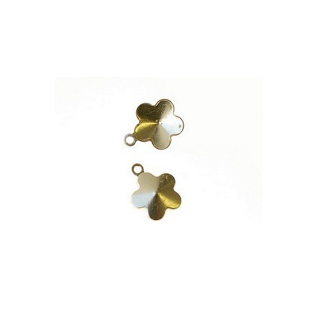 Stick-on support for flower 10mm GOLD COLOR x1