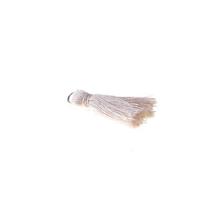 Pompon of threads with loop 25/30mm BEIGE x1