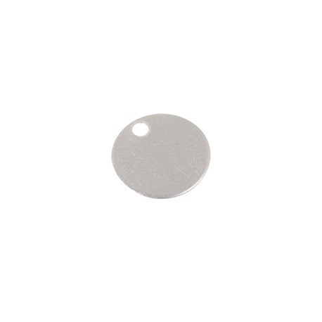 Sequin rond 8mm ép.0.4mm ARGENT 925 x1