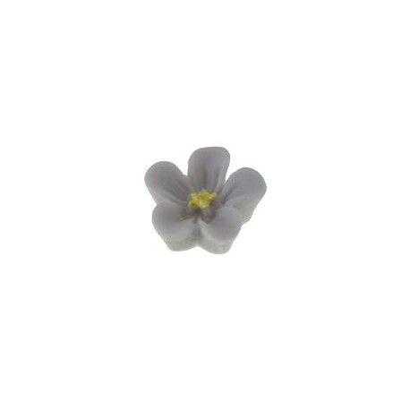 Fleur à coller polymère 12.5mm GRIS x2