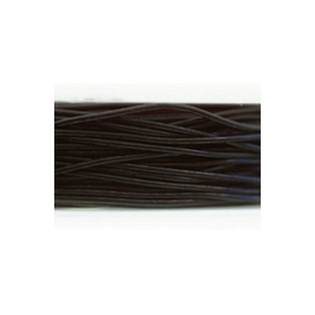 Fil nylon élastique noir 0.7mm bobine de 10m