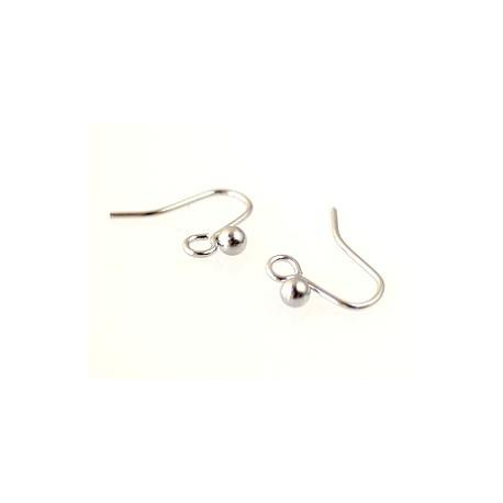 Earrings ball h.12mm SILVER COLOR x4