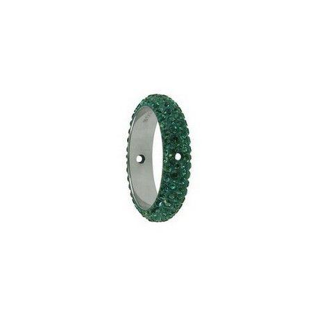 Pavé Ring deux trous 85001 18.5mm EMERALD