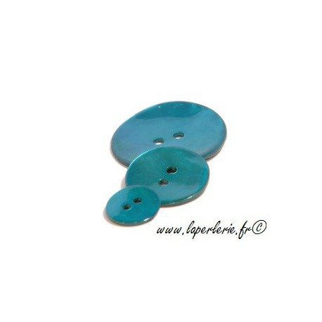Bouton de nacre rond diam.12  BLUE ZIRCON