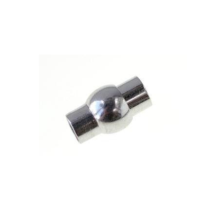 Fermoir tube boule 16.5x10mm ARGENTÉ x1