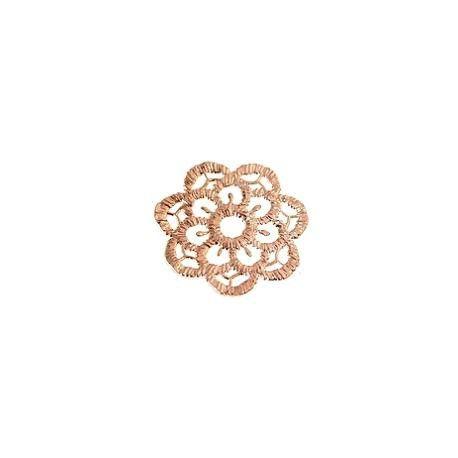 Filigree flower 23mm ROSE GOLD COLORx1