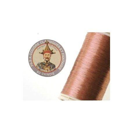 Metallized thread Fil au chinois n°40 COPPER COLOR x100m