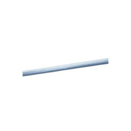 Lanière simili cuir repliée 3mm CIEL METALLISÉ x1m