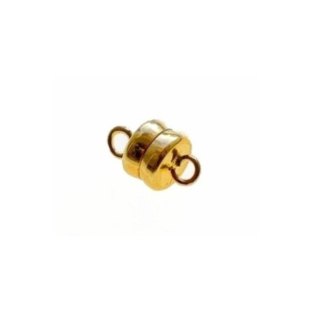 Magnetic clasp 2 rings 11x6mm GOLD COLOR