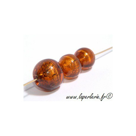 Ronde feuille d'argent 12mm SMOKED TOPAZ