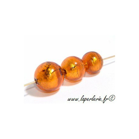 Ronde feuille d'or 10mm SMOKED TOPAZ