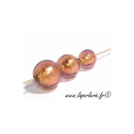 Ronde feuille d'or diam.8mm  AMETHYST