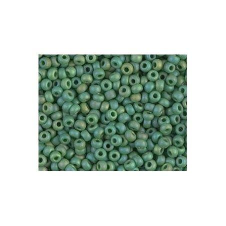 Rocaille Miyuki 8/0 411FR Matte Opaque Green AB x10g