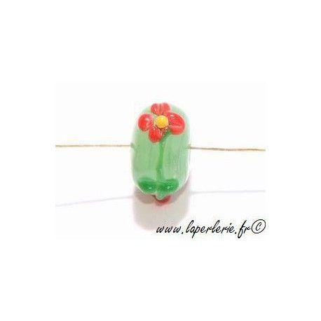 Rondelle 12mm fleurs en relief PERIDOT