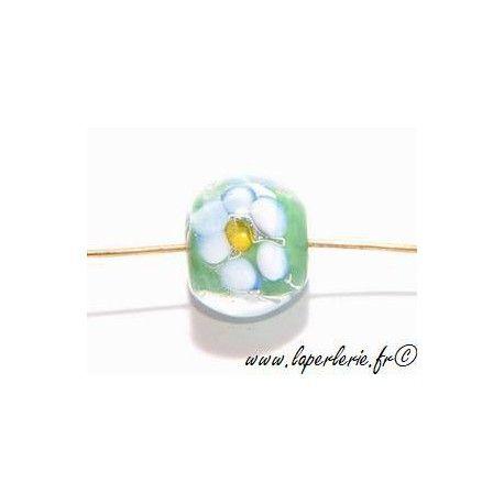 Ronde inclusion fleur 12mm PERIDOT