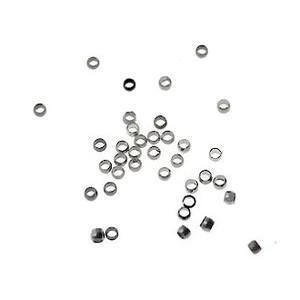 Perles à écraser 0.9mm int. ARGENTÉ x100