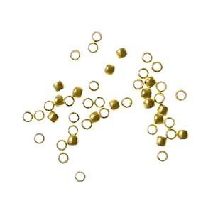 Crimp beads 0.9mm GOLD TONE x100