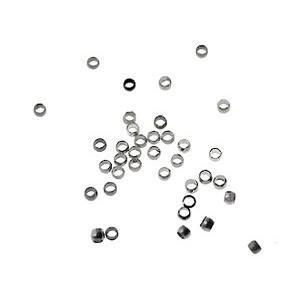 Crimp beads 1.4mm int. NICKEL TONE x10