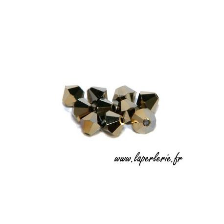 Toupie 5301 4mm CRYSTAL DORADO 2X x50