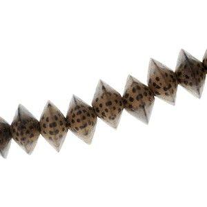 Soucoupe 15x10mm en bois de Patikan, le fil de 40cm