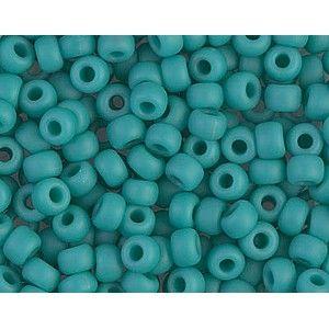 Seed beads Miyuki 6/0 412F Matte Opaque Turquoise Green x10g