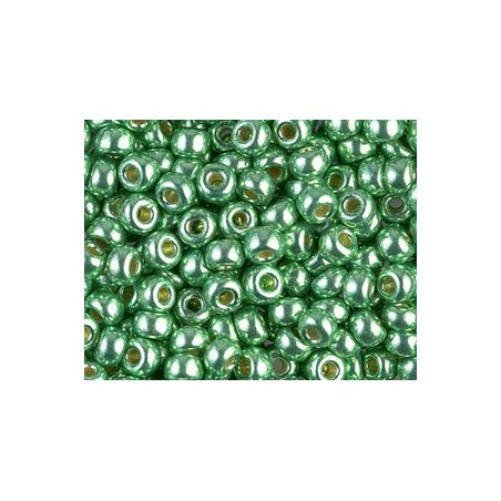 Seed beads Miyuki 6/0 4214 Dark Mint Green Duracoat Galvanized x10g