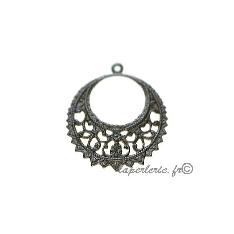 Filigreed earring 28x32mm BRONZE COLOR
