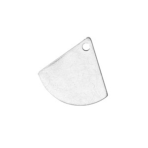 Charm rounded triangle 12.5x13mm SILVER COLOR x2