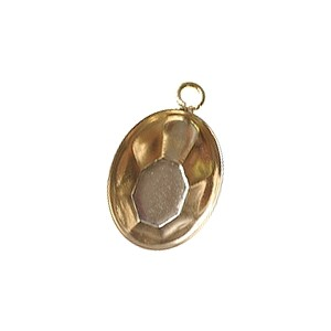 Stick-on support for oval cabochon 14x10mm GOLD COLOR x1