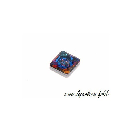 Square button 3017 12mm CRYSTAL MERIDIAN BLUE