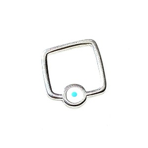 Hollow square spacer with eye pattern 14mm SILVER COLOR x1