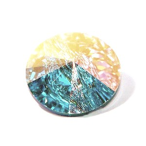 Round button 3015 12mm CRYSTAL AB F