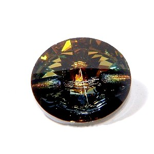 Round button 3015 12mm CRYSTAL TABAC x1