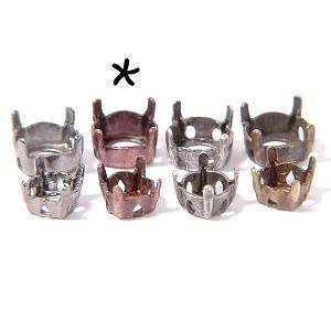 Griffe pour strass pointe diamant 8 mm CUIVRE VIEILLI