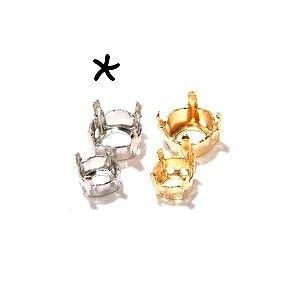 Griffe strass pte diamant 8mm ARGENTÉ