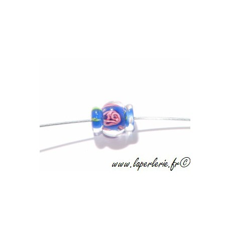 Bobine inclusion fleur 14mm SAPPHIRE