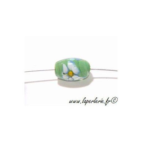 Olive inclusion fleur 16 mm VERT