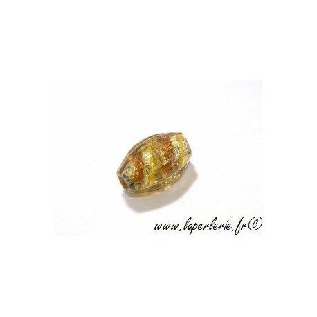 Olive feuille d'argent striée 16 mm LIME