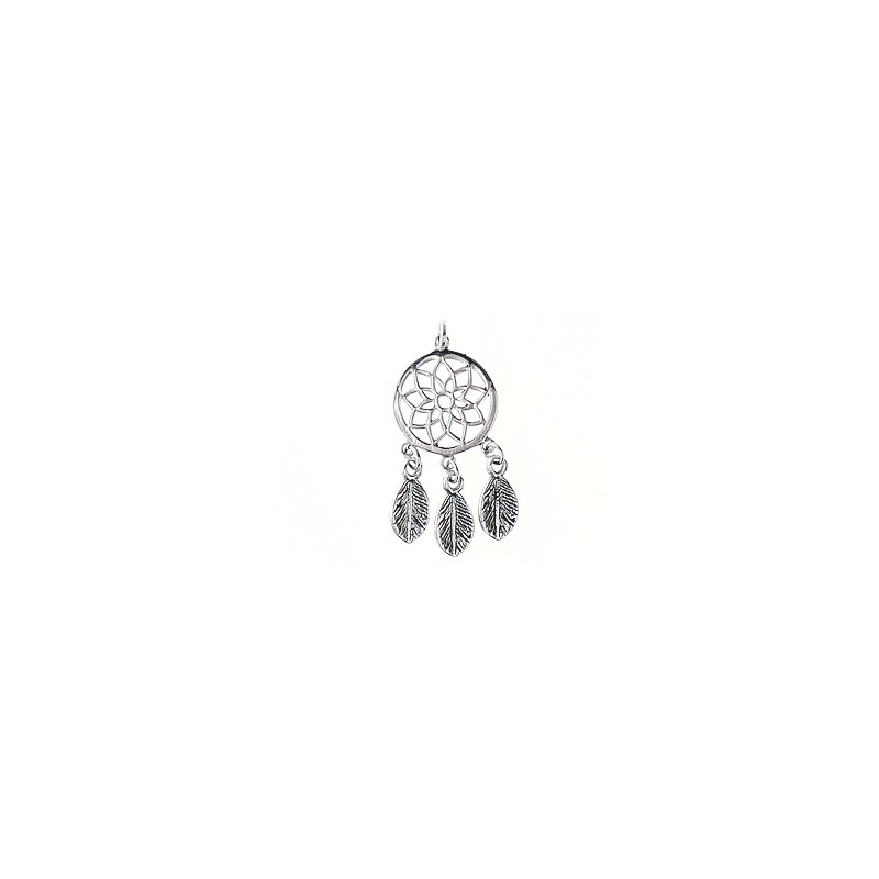 ede8bdee3 Charm dream catcher with ring 30x13.5mm Sterling Silver 925 x1