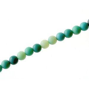 Green Grass Agate dépolie 4mm le fil