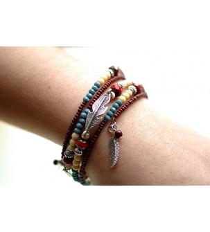 """Bracelet mémoire """"Amérindien"""""""